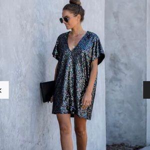 VICI Disco Dream Sequin Shift Dress